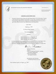 美国自由销售证书